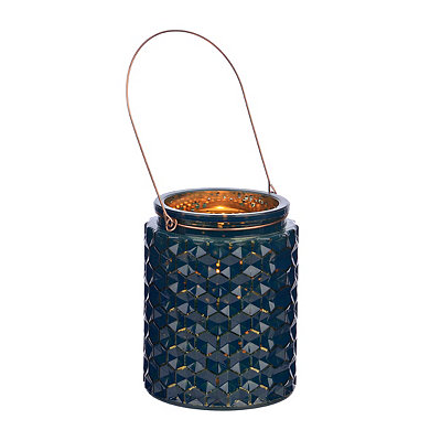 Blue Honeycomb Jewel Tone Lantern