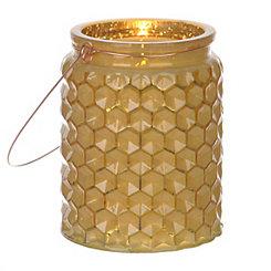 Yellow Honeycomb Jewel Tone Lantern