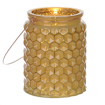 Yellow Honeycomb Jewel Tone Lantern