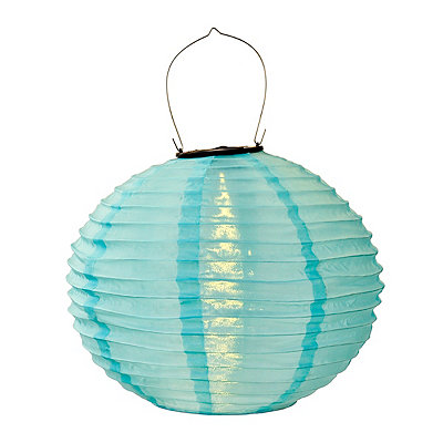 Blue Nylon Solar Lantern