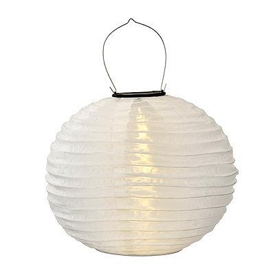 White Nylon Solar Lantern