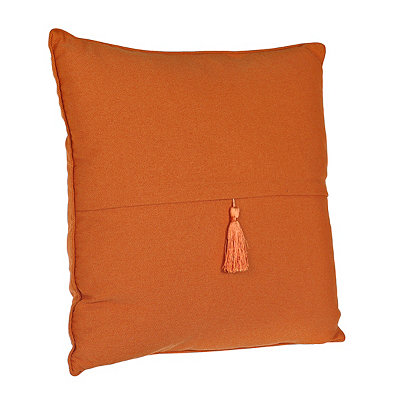 Burnt Orange Barbados Tassel Pillow