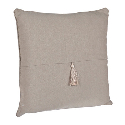 Gray Barbados Tassel Pillow