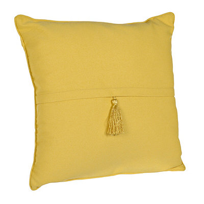 Mimosa Yellow Barbado Tassel Pillow