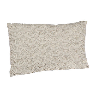 Ivory Branwen Lace Accent Pillow