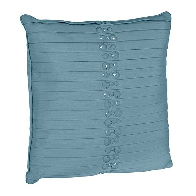 Blue Briana Pleated Pillow