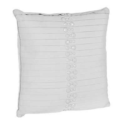 White Briana Pleated Pillow