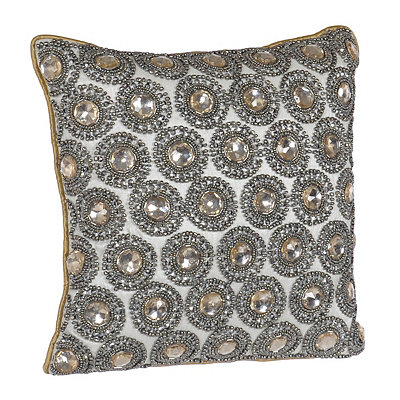 Gold Rhinestone Winston Pillow