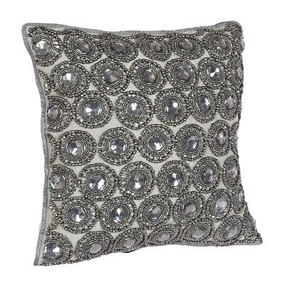 Silver Rhinestone Winston Pillow