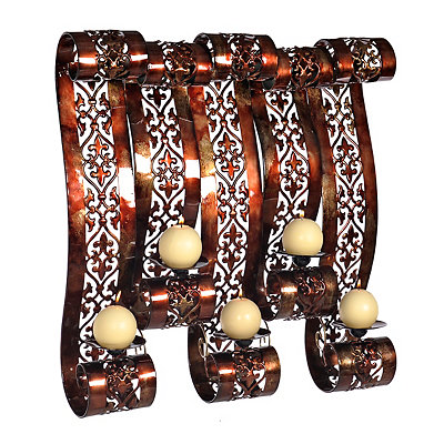 Spice Pierced Scroll Wall Candle Holder