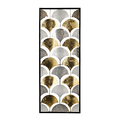 Mixed Metallic Fans Panel Metal Plaque
