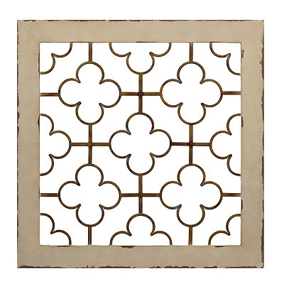 Two Tone Quatrefoil Metal Plaque
