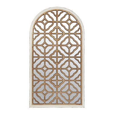 Ornate Moroccan Arch Mirrored Wooden Plaque