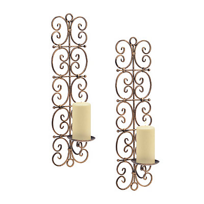 Burnished Gold Bohemian Sconces, Set of 2