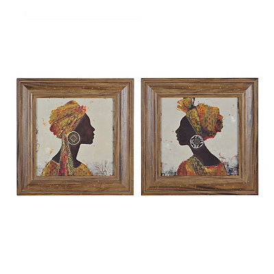 Jeweled Exotic Beauty Framed Art Prints, Set of 2