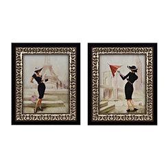 Jeweled High Fashion Framed Art Prints, Set of 2
