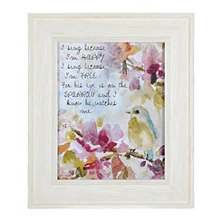 Jeweled I'm Free Sparrow Framed Art Print