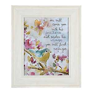 Jeweled Find His Refuge Sparrow Framed Art Print