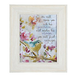 Jeweled Find His Refuge Sparrow Framed Art Print