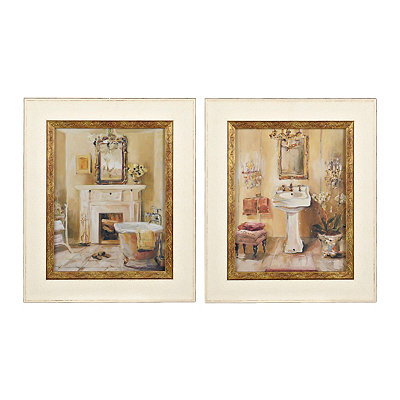 Tranquil Bath Framed Art Prints, Set of 2