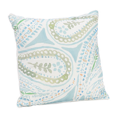 Watercolor Paisley Pillow