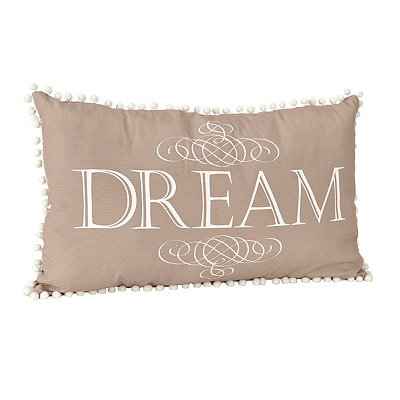 Dream Pom Pom Accent Pillow