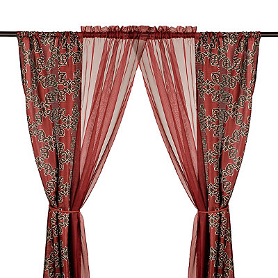 Burgundy Cheshire 6-piece Curtain Panel Set