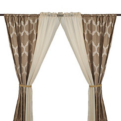 Taupe Farfield 6-piece Curtain Panel Set