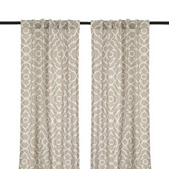 Cannes Taupe Curtain Panel Set, 96 in.