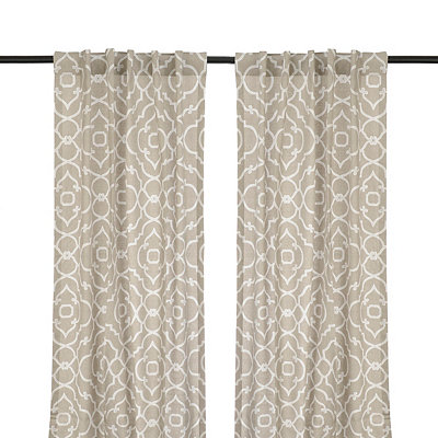 Cannes Taupe Curtain Panel Set, 108 in.