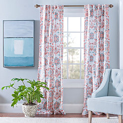 Clare Coral Curtain Panel Set, 108 in.