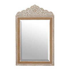 Fiona Ornate Carved Wooden Mirror