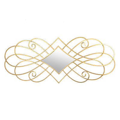 Gold Sable Scroll Mirror