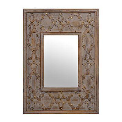 Wesley Rustic Wood Mirror