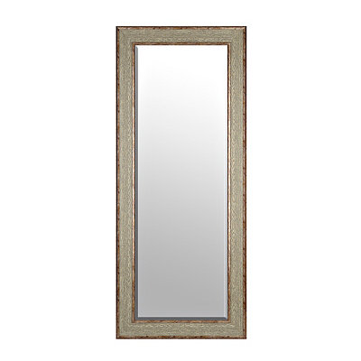 Rustic Burl Wood Framed Mirror, 33x79 in.