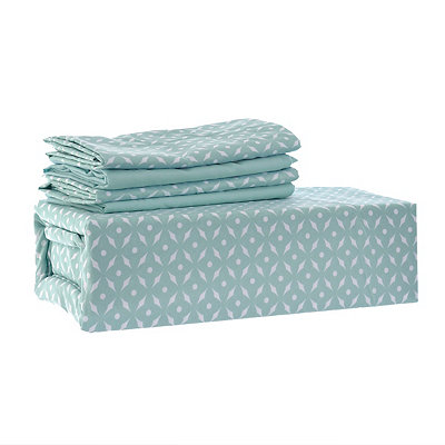Chelsea Loft Aqua Star 6-pc. King Sheet Set