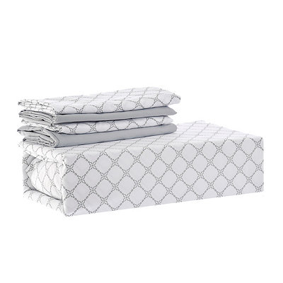 Chelsea Loft Gray Diamond 6-pc. Queen Sheet Set