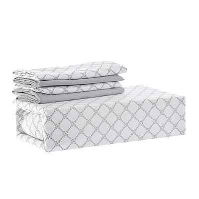Chelsea Loft Gray Diamond 6-pc. Queen Sheet Set
