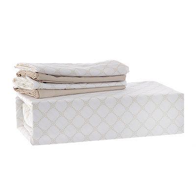 Chelsea Loft Taupe Diamond 6-pc. Queen Sheet Set