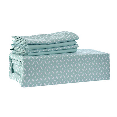 Chelsea Loft Aqua Star 6-pc. Queen Sheet Set