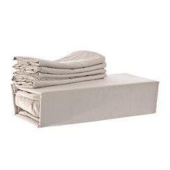 Chelsea Loft Taupe 6-pc. Queen Sheet Set