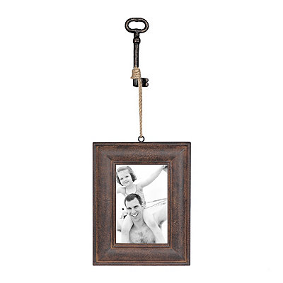Brown Olivia Hanging Key Picture Frame, 4x6