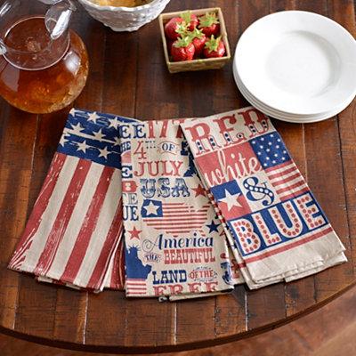 Patriotic Tea Towels, Set of 3