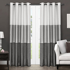 Black Pearl Chateau Curtain Panel Set, 84 in.