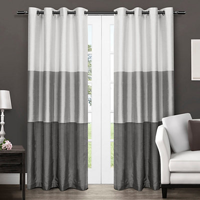 Black Pearl Chateau Curtain Panel Set, 96 in.
