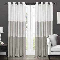 Dove Gray Chateau Curtain Panel Set, 84 in.