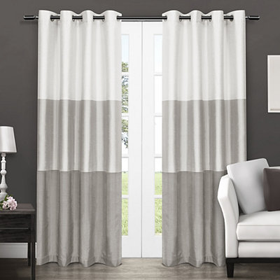 Dove Gray Chateau Curtain Panel Set, 96 in.
