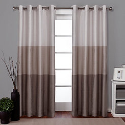 Taupe Chateau Curtain Panel Set, 96 in.