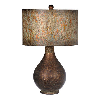 Butler Bronze Painted Shade Table Lamp