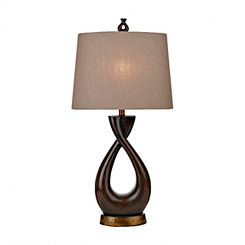 Double Espresso Twist Table Lamp